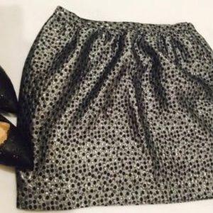 Black & silver metallic mini skirt by Forever 21